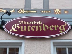 Gutenberg---Schild