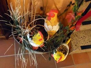 Unsere Vino-Hühner