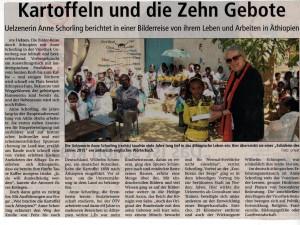 AZ-Text über Anne Schorling und Äthiopien